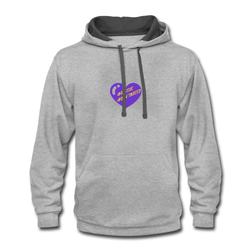 Rescue Don't Breed 1 - Contrast Hoodie
