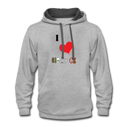 ilovebios - Contrast Hoodie