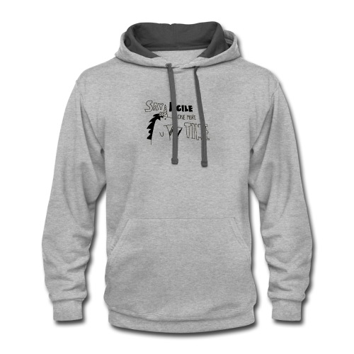 Say Agile one more time - Contrast Hoodie