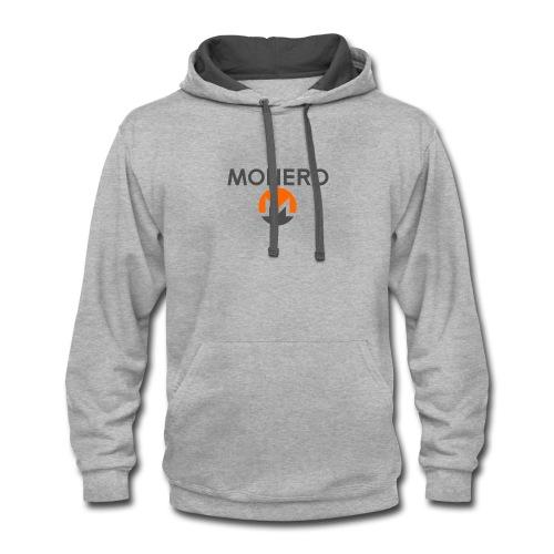 monero designed tshirts - Contrast Hoodie