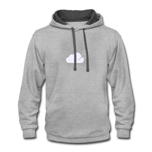 Clouds Logo - Contrast Hoodie