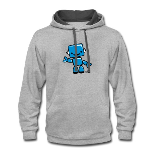 DB Tech Robot With Text - Contrast Hoodie