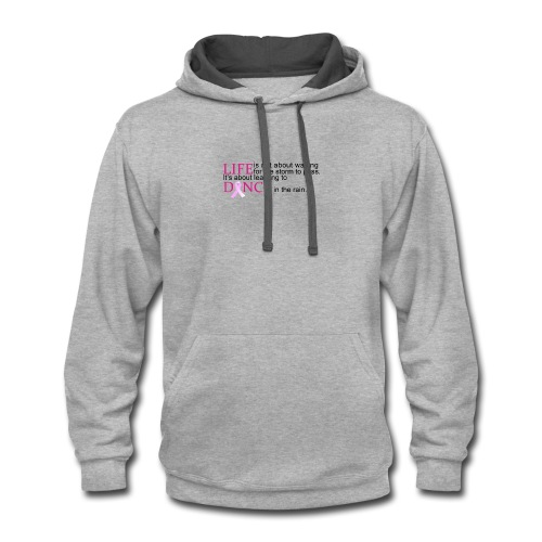Dance in the Rain Breast Cancer Awareness - Contrast Hoodie