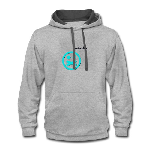 long sleeve all white athletic shirt - Contrast Hoodie