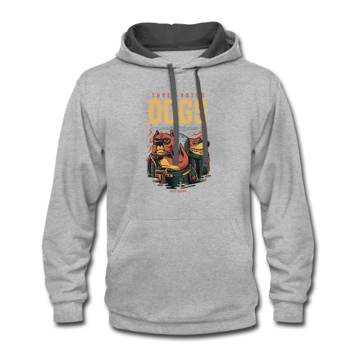 THREE ASTRO DOGS - Contrast Hoodie