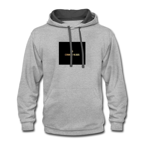 Connor Vlogs Logo - Contrast Hoodie