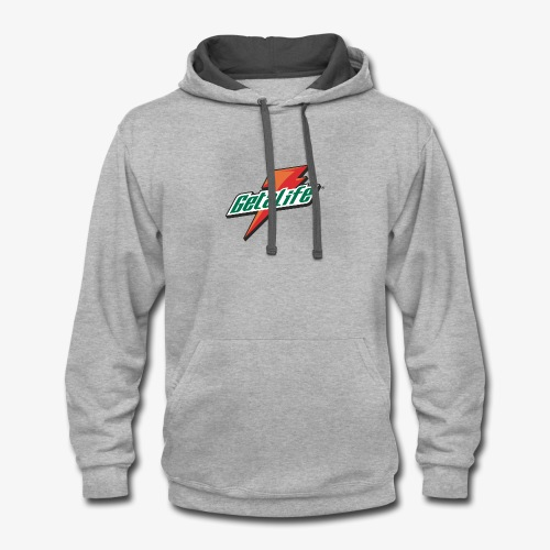 Get a life - Contrast Hoodie