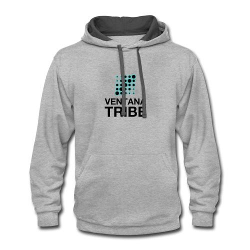 Ventana Tribe Black Logo - Contrast Hoodie
