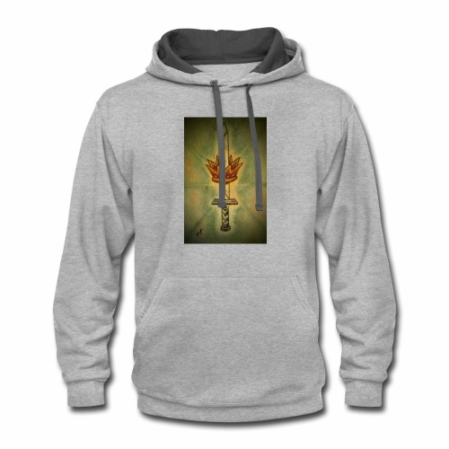 received 213912709372361 sword of life - Contrast Hoodie