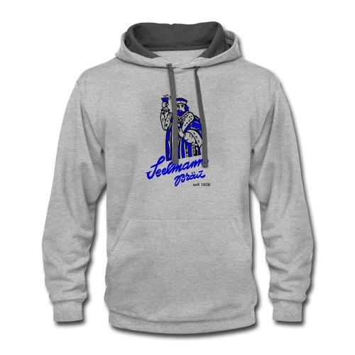 Brewery Gambrinus logo blue - Contrast Hoodie