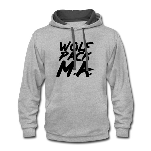 WolfPack M.A. Text Logo - Contrast Hoodie