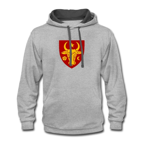Coat of arms of Moldavia svg - Contrast Hoodie