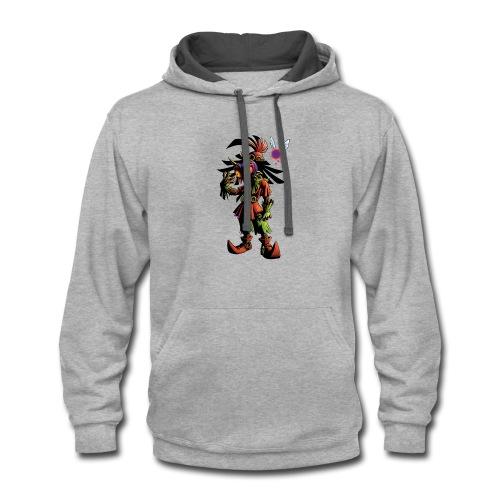 skull kid - Contrast Hoodie