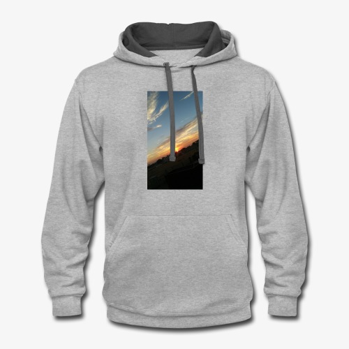 California sunset - Contrast Hoodie