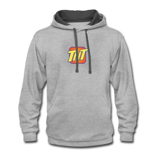 TNT cellular service logo - Contrast Hoodie