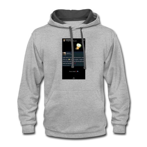 Quote - Contrast Hoodie