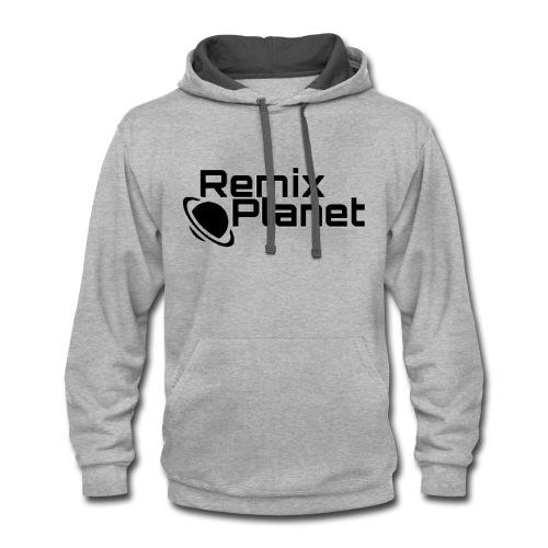 RemixPlanet Black Logo - Contrast Hoodie