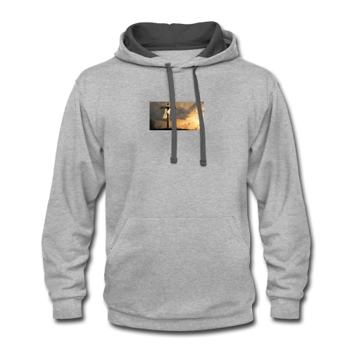 On the move for christ - Contrast Hoodie