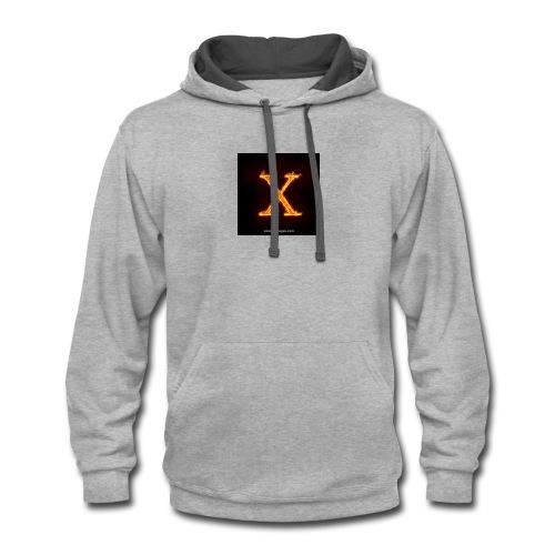 X glow xlarge - Contrast Hoodie