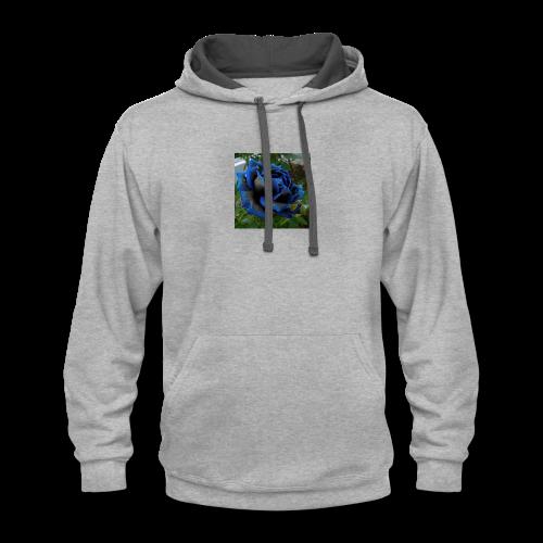 Blue rose - Contrast Hoodie