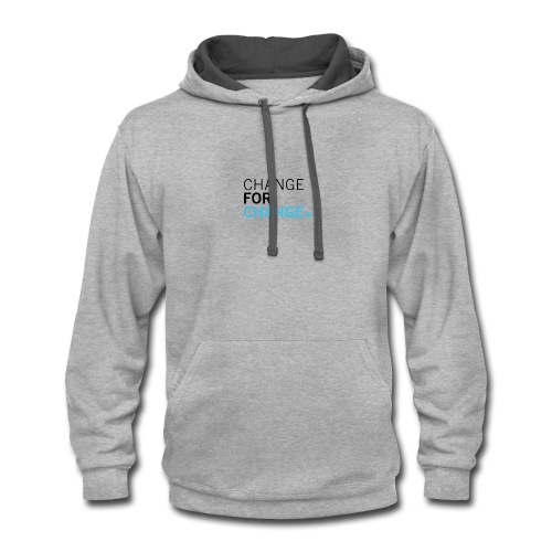 Change for Change Logo - Contrast Hoodie