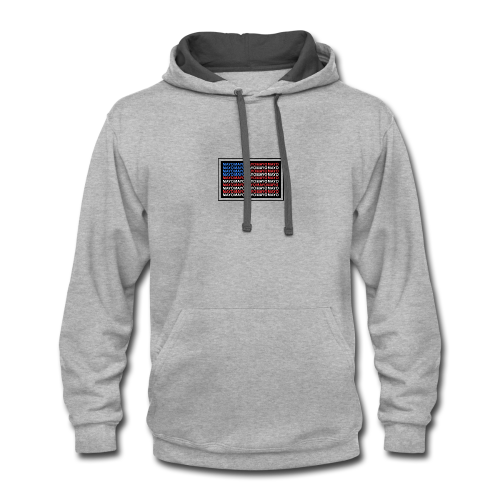 Mayo AMERICAN logo - Contrast Hoodie