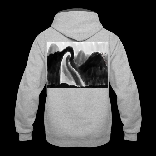Ghost atop a mountain - Contrast Hoodie