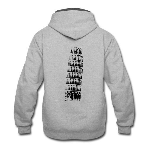 Leaning Tower of Pisa - Contrast Hoodie