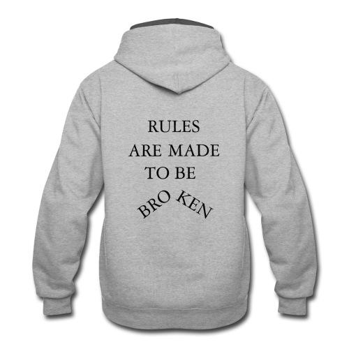 rules - Contrast Hoodie