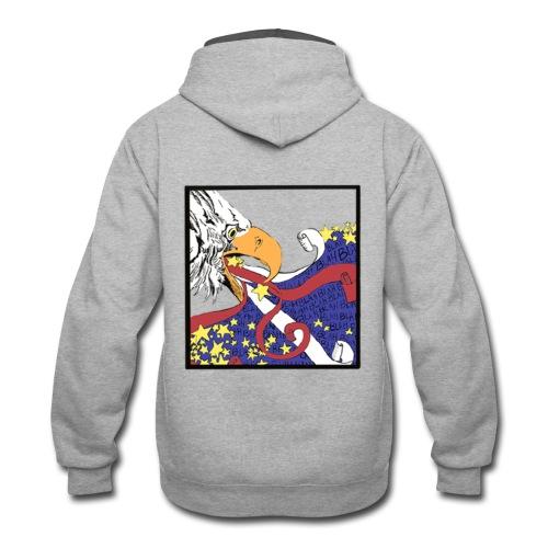 Eagle blah blah blah - Contrast Hoodie
