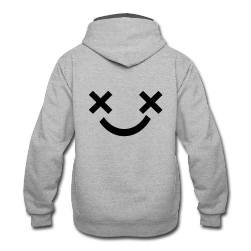X Eyes Face Design - Contrast Hoodie