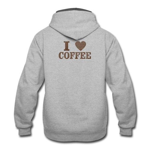 coffee bean - Contrast Hoodie
