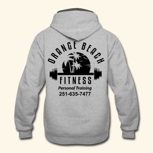 Orange Beach Fitness Black Logo - Contrast Hoodie