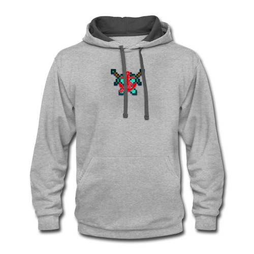 anchor and swords - Contrast Hoodie