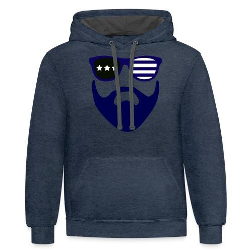Blue beard-beard gang - Contrast Hoodie