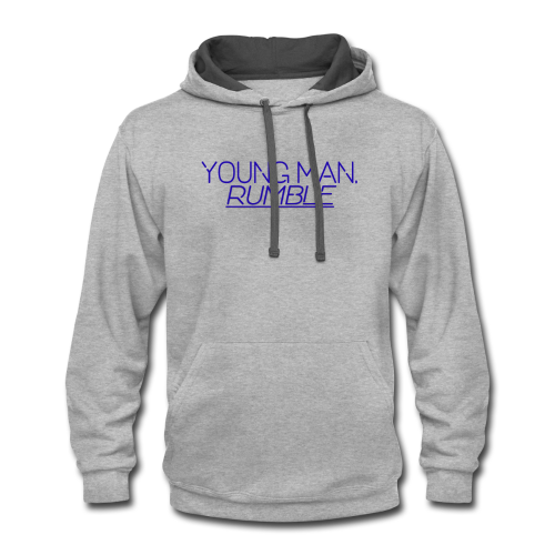 YOUNG MAN, RUMBLE - Contrast Hoodie