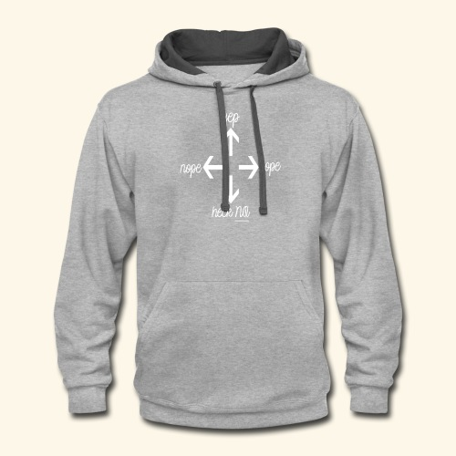 Right direction white - Contrast Hoodie