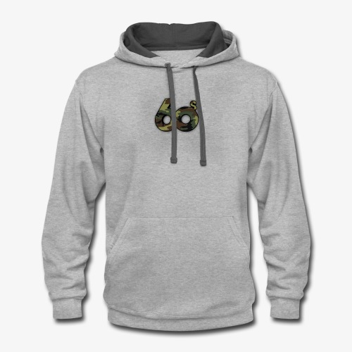 60s Camouflage Logo - Contrast Hoodie