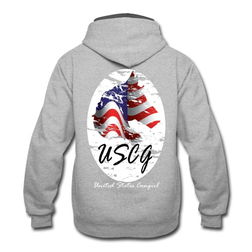 United States Cowgirl Shirts - Contrast Hoodie