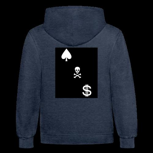 Cash Club Skull - Contrast Hoodie
