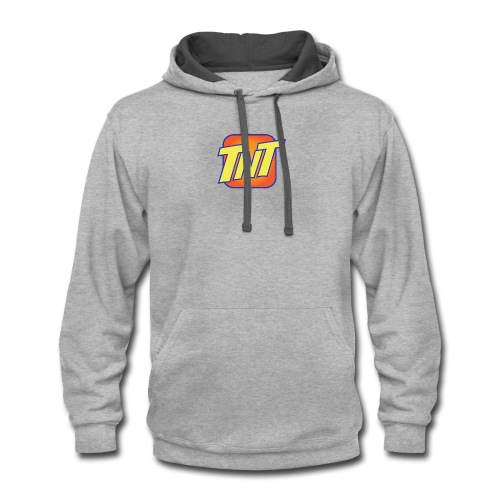 TNT cellular service logo - Contrast Hoodie