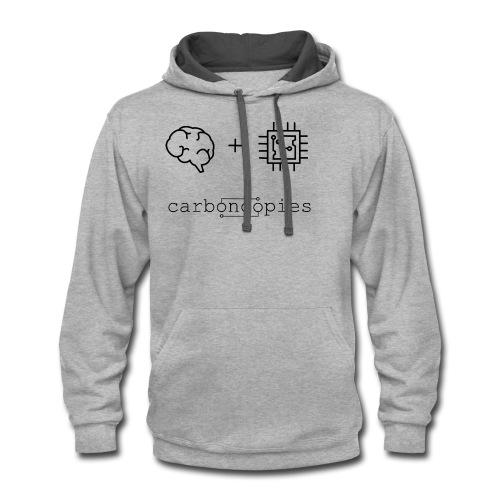 Carboncopies T-Shirt (Black) - Contrast Hoodie