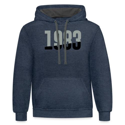 1983 - Contrast Hoodie