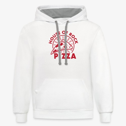 HOR Pizza Red - Contrast Hoodie