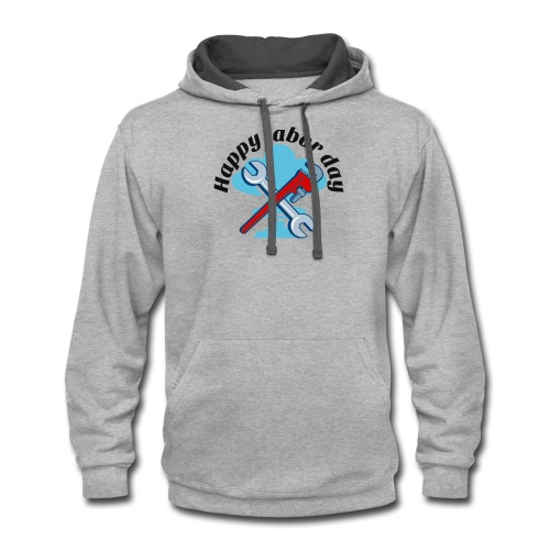 Happy labor day America - Contrast Hoodie