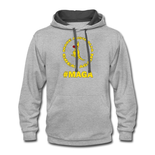 Make Australia Great Again #MAGA - Contrast Hoodie