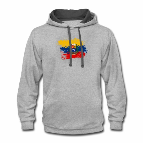 Flag of Venezuela and coat of arms - Contrast Hoodie