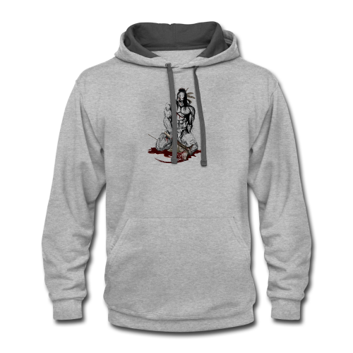 Wounded indian - Contrast Hoodie