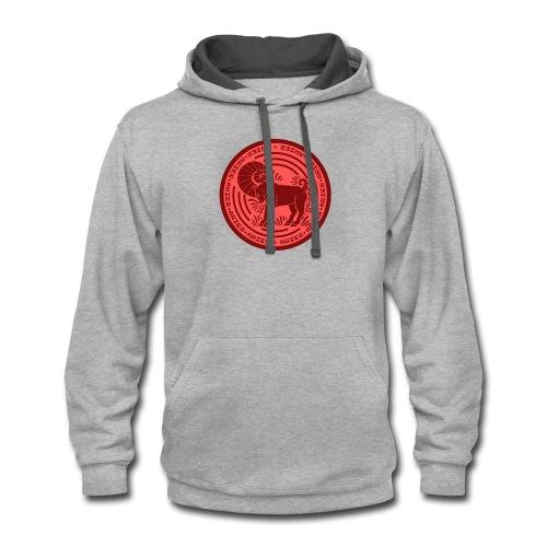 Aries Zodiac Badge 01 - Contrast Hoodie