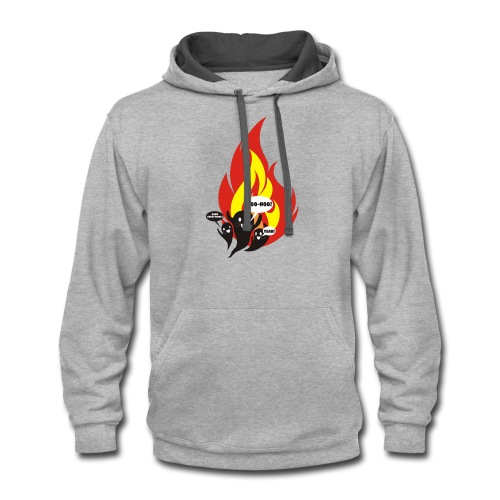 Funny arson ghosts burn everything Halloween - Contrast Hoodie